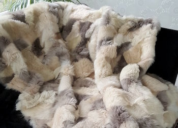 Schapenvacht kleed wit beige camel grijs tinten