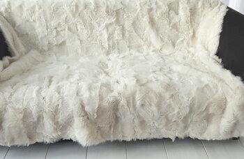 lamsvacht kleed in spier wit