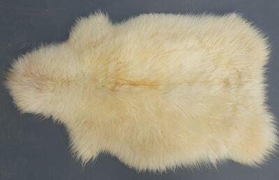 Maat 130x80 cm. warmwit langharig Schots schapenvacht
